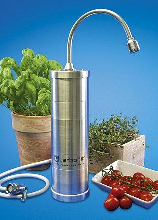 Filtres à eau sur évier Carbonit